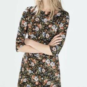 Zara trafulac floral mini dress small